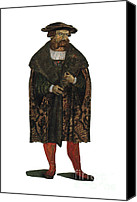 1566 Canvas Prints - Leonhart Fuchs, German Botanist Canvas Print by Science Source