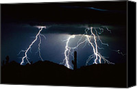 "\""striking Photography\\\"" Canvas Prints - 4 Lightning Bolts Fine Art Photography Print Canvas Print by James Bo Insogna"