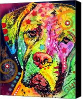 Dog Art Canvas Prints - Mastiff Canvas Print by Dean Russo