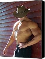 Male Physique Canvas Prints - Muscle Art America Marius Canvas Print by Jake Hartz