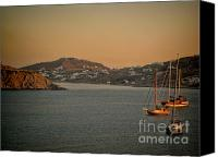 Άγιος Νικόλαος Canvas Prints - Mykonos Island Canvas Print by RJ Aguilar