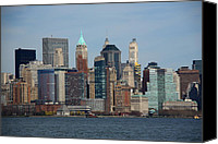 Empire Photo Canvas Prints - New York City Skyline Canvas Print by Frank Romeo