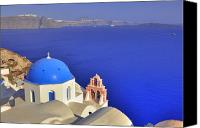 Church Photo Canvas Prints - Oia - Santorini Canvas Print by Joana Kruse