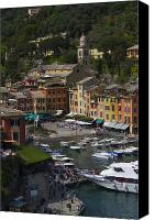 Cruise Photo Canvas Prints - Portofino in the Italian Riviera in Liguria Italy Canvas Print by David Smith