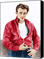 T-shirt Canvas Prints - Rebel Without A Cause, James Dean, 1955 Canvas Print by Everett
