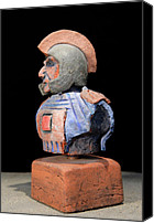 Thingart Ceramics Canvas Prints - Roman Legionaire - Warrior - ancient Rome - Roemer - Romeinen - Antichi Romani - Romains - Romarere  Canvas Print by Urft Valley Art