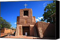 Santa Fe Canvas Prints - Santa Fe - San Miguel Chapel Canvas Print by Frank Romeo