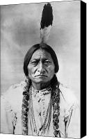 American Canvas Prints - Sitting Bull (1834-1890) Canvas Print by Granger