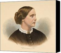 Hairstyle Canvas Prints - Susan B. Anthony (1820-1906) Canvas Print by Granger