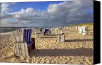 Beach Chairs Canvas Prints - Sylt Canvas Print by Joana Kruse