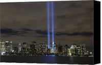Memorial Canvas Prints - The Tribute In Light Memorial Canvas Print by Stocktrek Images