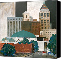 Mjonesart Canvas Prints - Tulsa Canvas Print by Micheal Jones