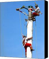 Flyers Canvas Prints - Voladores de Papantla Canvas Print by Luis C Othon