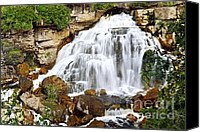 Brook Canvas Prints - Waterfall Canvas Print by Elena Elisseeva