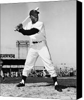 Mays Canvas Prints - Willie Mays (1931- ) Canvas Print by Granger
