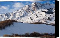 Craggy Canvas Prints - Winter in the Wasatch Mountains of Northern Utah Canvas Print by Utah Images
