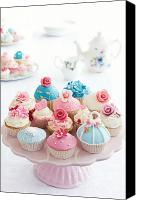 Cake-stand Canvas Prints - Cupcakes Canvas Print by Ruth Black