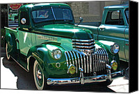 Antique Automobiles Canvas Prints - 41 Chevy Truck Canvas Print by Gwyn Newcombe