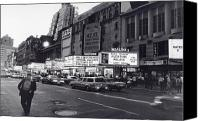 City Canvas Prints - 42nd Street NYC 1982 Canvas Print by Steven Huszar