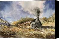 Train Painting Canvas Prints - 481 From Durango Canvas Print by Sam Sidders