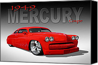 1949 Canvas Prints - 49 Mercury Coupe Canvas Print by Mike McGlothlen