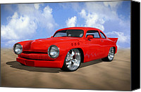 Hot Rod Car Canvas Prints - 49 Mercury Canvas Print by Mike McGlothlen
