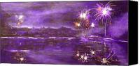 4th July Painting Canvas Prints - 4rh of July Celebration Canvas Print by Terry Honstead