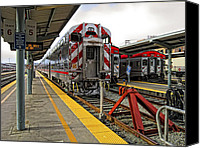 Mountain View Canvas Prints - 4th and KING ST. CALTRAINS STATION - San Francisco Canvas Print by Daniel Hagerman