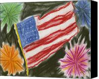4th July Pastels Canvas Prints - 4th of July Canvas Print by Jessika and Art with a Heart In Healthcare