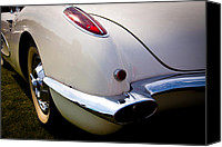 1960 Canvas Prints - 1959 Chevy Corvette Canvas Print by David Patterson