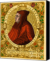 Portrait Woodblock Canvas Prints - Albertus Magnus, Medieval Philosopher Canvas Print by Science Source