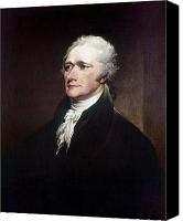 Hairstyle Photo Canvas Prints - Alexander Hamilton Canvas Print by Granger
