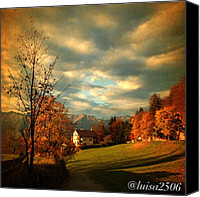 Bestoftheday Canvas Prints - Autumn In South Tyrol Canvas Print by Luisa Azzolini