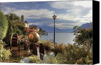 Old Houses Canvas Prints - Brissago - Ticino Canvas Print by Joana Kruse