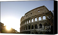 Ruin Photo Canvas Prints - Coliseum. Rome Canvas Print by Bernard Jaubert