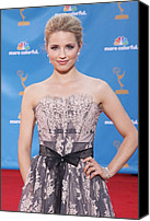 Dianna Agron Canvas Prints - Dianna Agron Wearing A Carolina Herrera Canvas Print by Everett