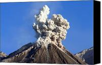 Eruption Canvas Prints - Eruption Of Ash Cloud From Santiaguito Canvas Print by Richard Roscoe
