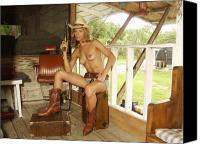 Nude Cowgirls Glamorous Photos Canvas Prints - Everglades Cowgirl Canvas ...