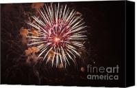 4th Of July Canvas Prints - Fireworks Canvas Print by Juan  Silva