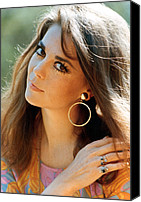 Gold Earrings Photo Canvas Prints - Natalie Wood Canvas Print by Everett