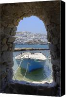 Fort Canvas Prints - Paros - Cyclades - Greece Canvas Print by Joana Kruse