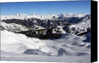 Chevalier Canvas Prints - Serre Chevalier in the French Alps Canvas Print by Pierre Leclerc