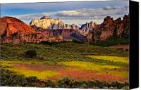 Desert Southwest Canvas Prints - Zion National Park Utah Canvas Print by Utah Images