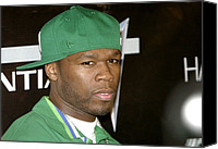 Cent Canvas Prints - 50 Cent At Arrivals For 50 Cent Concert Canvas Print by Everett