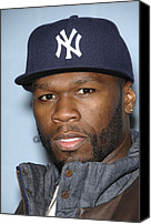 Cent Canvas Prints - 50 Cent At Arrivals For Spike Tv 2008- Canvas Print by Everett