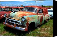 Photographers Atlanta Canvas Prints - 50s Chevy Panel Wagon at The Auto Ranch Canvas Print by Corky Willis Atlanta Photography