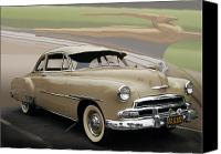 Photo Manipulation Canvas Prints - 51 Chevrolet Deluxe Canvas Print by Bill Dutting
