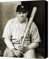  New York Yankees Canvas Prints - George H. Ruth (1895-1948) Canvas Print by Granger