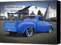 66 Canvas Prints - 56 Studebaker at the Wigwam Motel Canvas Print by Mike McGlothlen