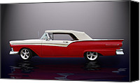California Hot Rod Canvas Prints - 57 Fairlane 500  Canvas Print by Bill Dutting